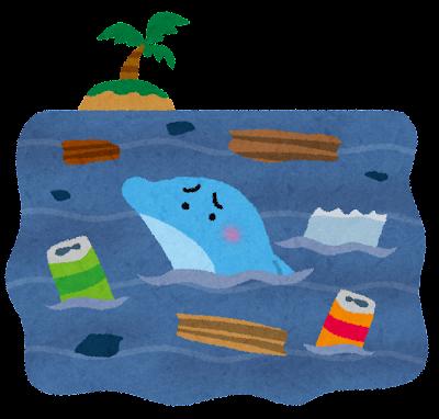 汚れた海のイラスト(環境問題)