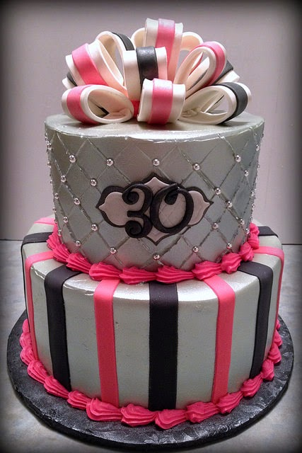 30th Birthday Decorations Pink And Black Image Inspiration of Cake