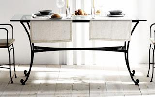 mesa rectangular forja, mesa de forja, mesa para comedor forja, mesa forja