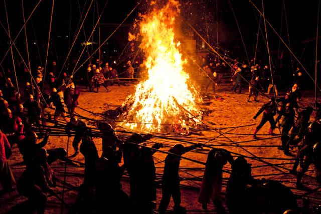 Takeuchi (bamboo battle Festival), Misato Town, Akita