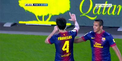 LFP-Week-32 : Barcelona 1 vs 0 Levante 20-04-2013