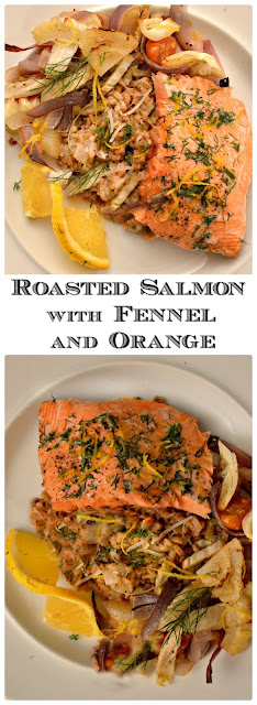 Roasted Salmon with Fennel and Orange is a one sheet pan dinner! www.thisishowicook.com #salmon #fennel #roastedvegetables #entrees