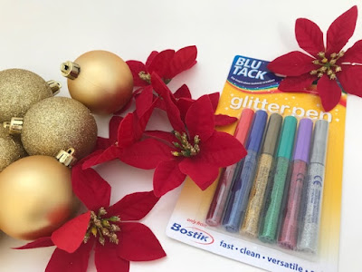 BluTack Bostik glitter pens for crafting