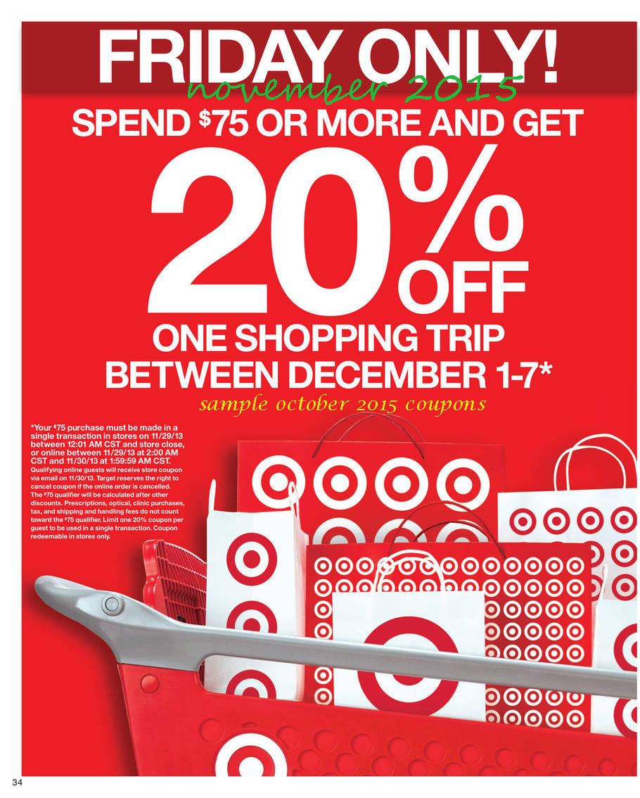 Target Coupons. Looking for all the ways to save in store at Target? All you need to do is download the Target app today and enjoy all the in store coupons Target has to offer. Choose from current coupons and save up to 50% off products like baby clothes, food, home decor, apparel, and beauty supplies.