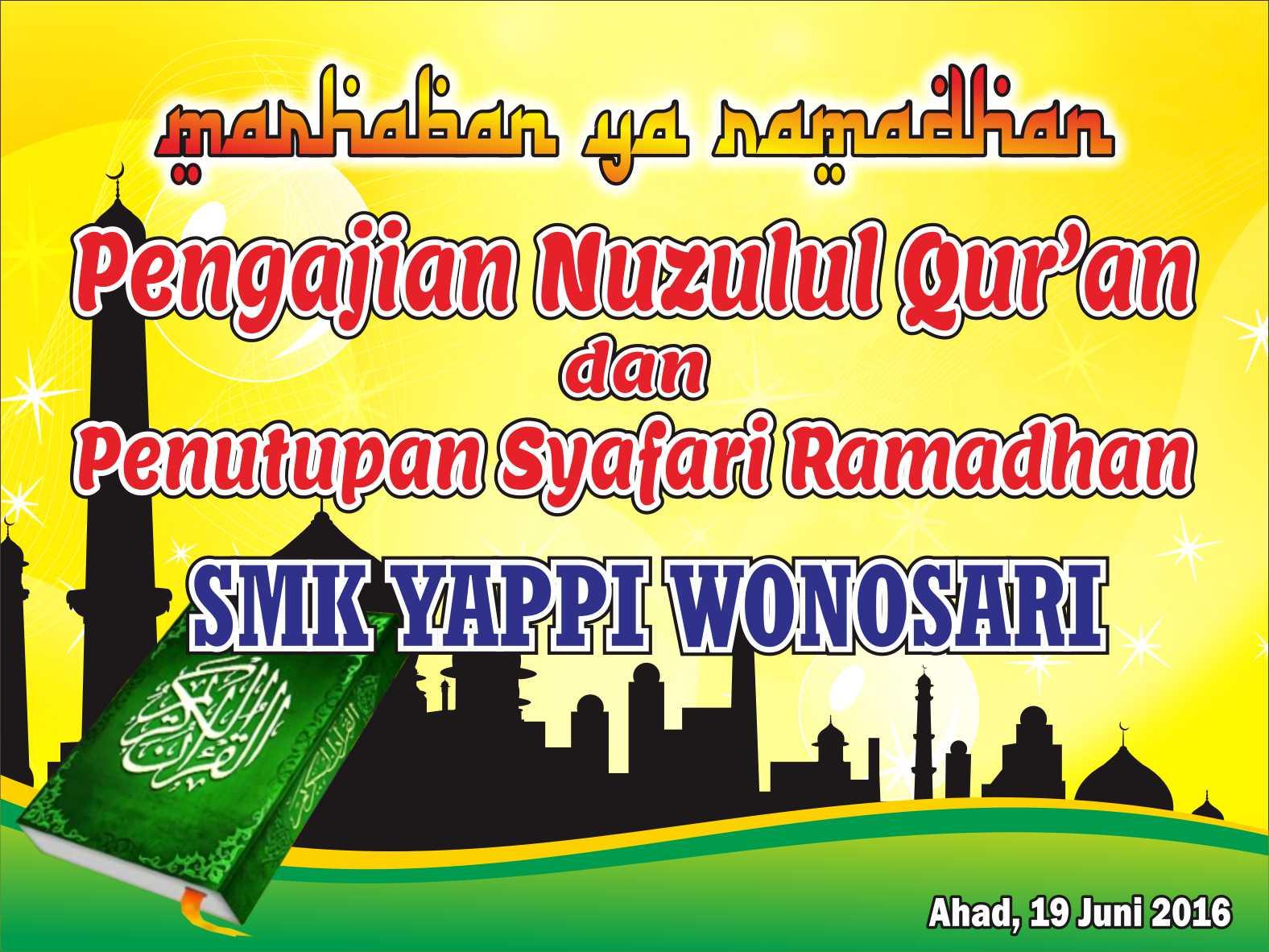 Desain Spanduk Nuzulul Quran Vektor Cdr - PandaSoft