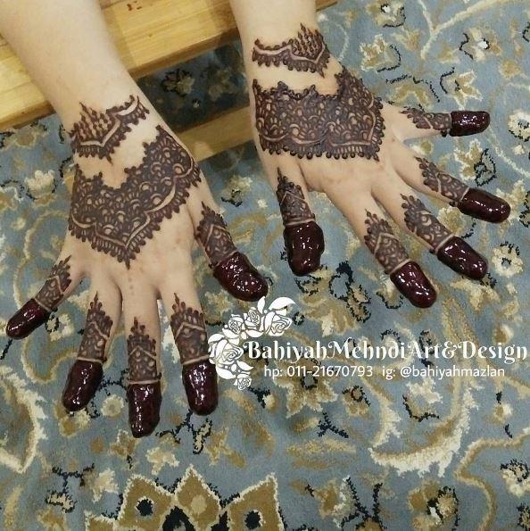 Servis Lukis Inai Henna Cantik Di Melaka Bahiyah Mehndi Art
