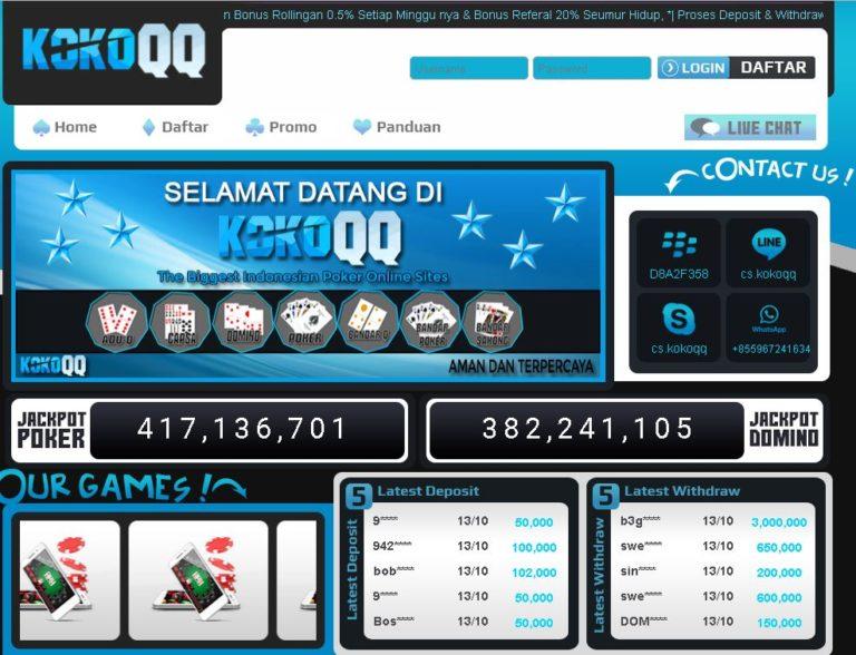 KokoQQ.com || Agen Poker V & Domino Join Sekarang!!! 100%