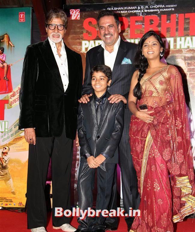 Amitabh Bachchan, Boman Irani, Parth Bhalerao and Usha Jadhav, Usha Jadhav at Bhoothnath Returns Success Party