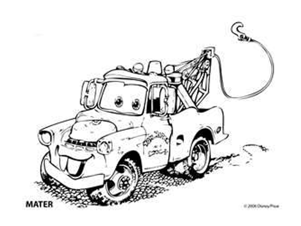 Mater, Drawing Tow Mater Coloring Pages: Drawing Tow Mater ... | 766x1021