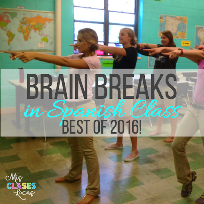 Best of 2016: #5 Brain Breaks in Spanish Class