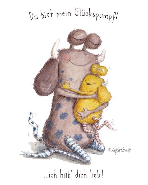 Loni der Pumpf, Pumpf, Kinderbuchillustration, Kommoß, monster, niedlich, Kinderbuch