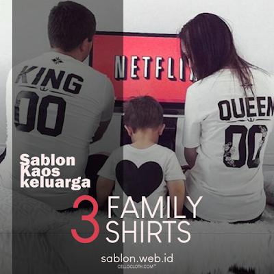 Sablon Kaos Couple Family Kaos Keluarga Sablon Kaos Online