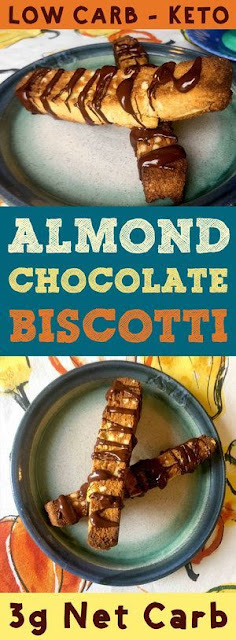 Low Carb Almond and Chocolate Biscotti
