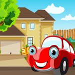Play Games4king Red Car Rescue