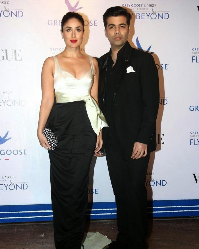 Kareena Kapoor, Karan Johar, Pics from Red Carpet of Grey Goose & Vogue's Fly Beyond Awards 2014