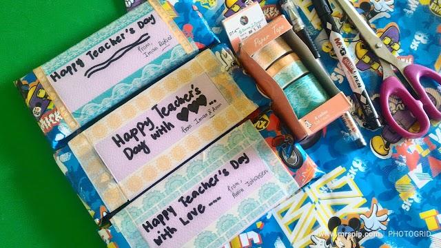 Hadiah hari guru untuk cikgu lil' Iman dan lil' Amin
