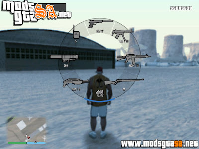 HUD do GTA V Com Ícones do GTA San Andreas