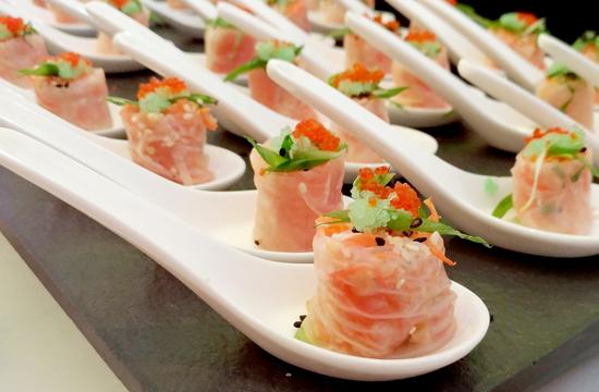 Fresh Salmon Salad Rolls - Seda Abreeza