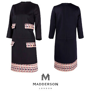 Kate Middleton Madderson London Naomi French Tweed & Wool Shift Dress