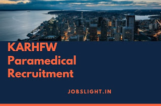 KARHFW Paramedical Recruitment