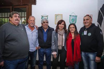 Cristina, Vanesa Siley, Ricardo Pignanelli, Hugo Moyano y Omar Plaini formaron parte de un reencuentro histórico para el peronismo