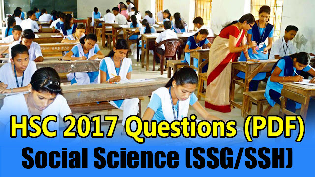 "Download BSE Odisha HSC Exam 2017 ""SSC (Social Science [SSG/SSH])"" - Objective Question Paper PDF"