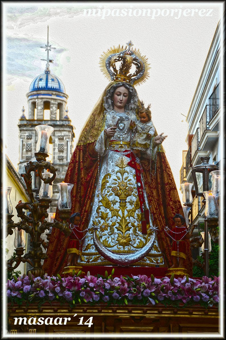 Resultado de imagen de Procesión Virgen del Rosario Patrona de Capataces y Costaleros jerez