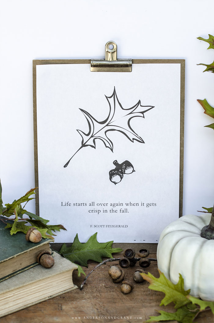 Free Printable Quote for Fall