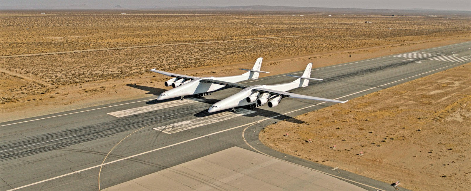 Stratolaunch The Widest Aircraft in The World Ready Takeoff