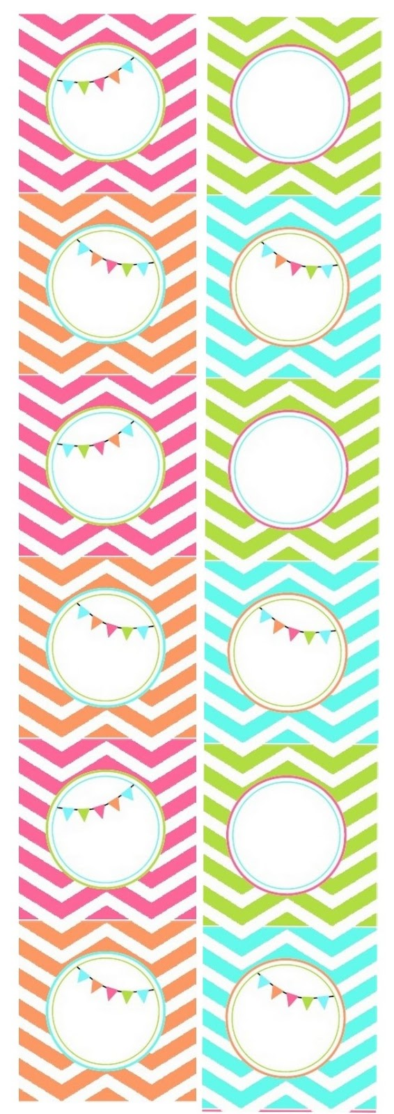 Chevron Free Printable Toppers Labels Or Frames Oh My