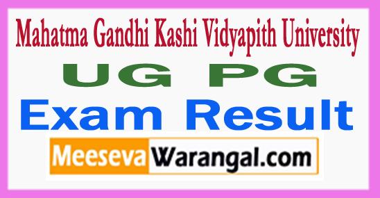 Mahatma Gandhi Kashi Vidyapith MGKVP University UG PG Exam Result