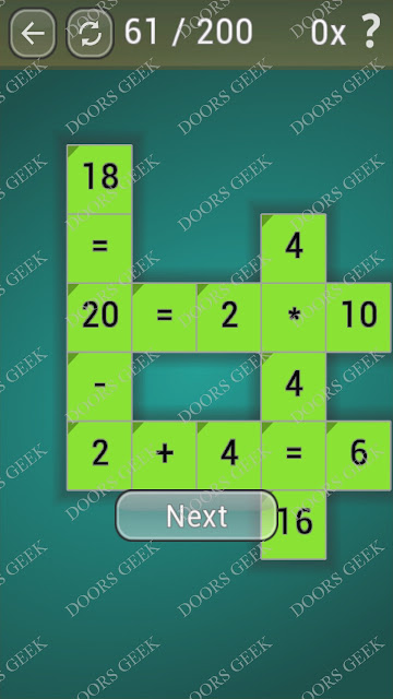 Math Games [Beginner] Level 61 answers, cheats, solution, walkthrough for android