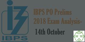 IBPS PO Prelims 2018 Exam Analysis: 14th October - Fourth Slot / Last Shift