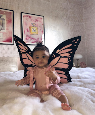 Kylie Jenner and daughter stormi in adorable butterfly costumes