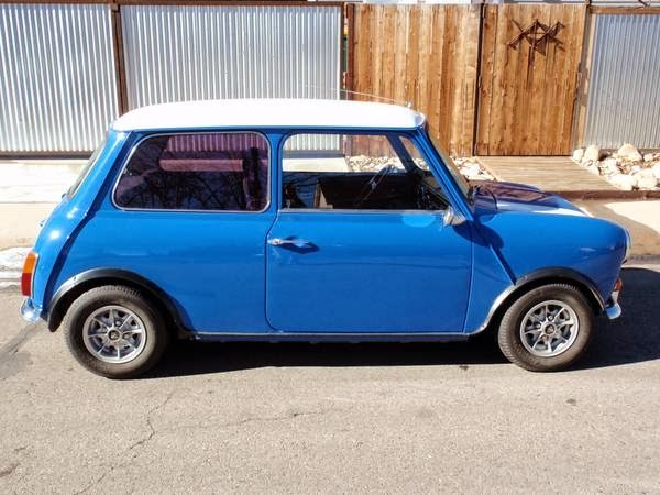 1972 Austin Mini Cooper On Blue Auto Restorationice