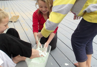 Making Oobleck in honor of Dr Seuss