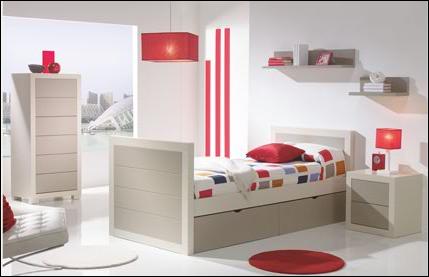 Dormitorios habitaciones juveniles e infantiles lacadas - Camas infantiles blancas ...