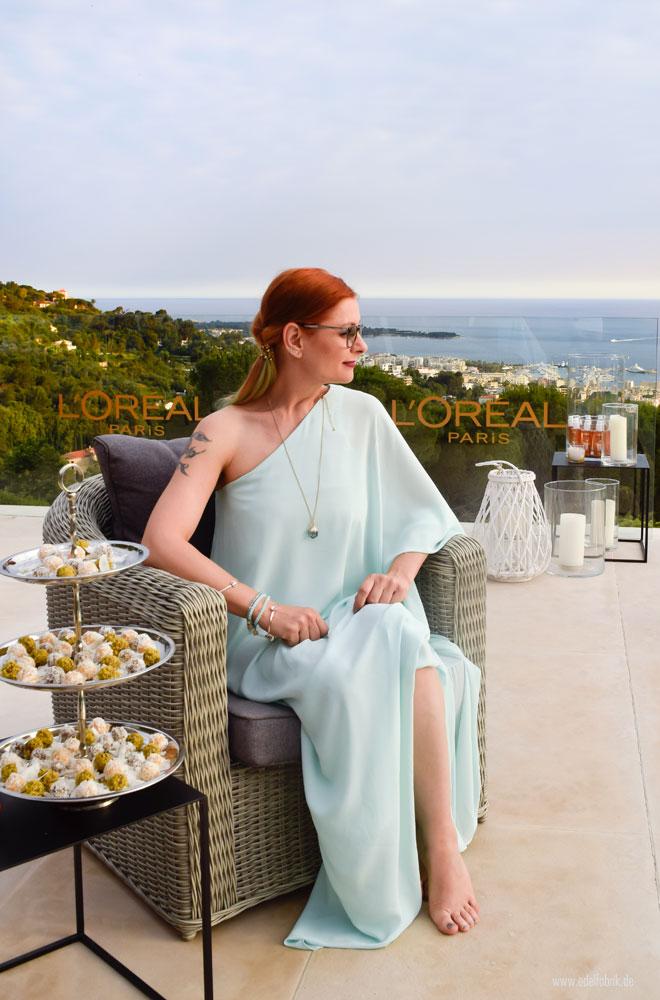Chrissie in der L'Oréal Villa in Cannes zu den Filmfestspielen