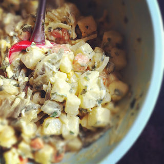 Easy Old Fashioned Potato Salad With Eggs
