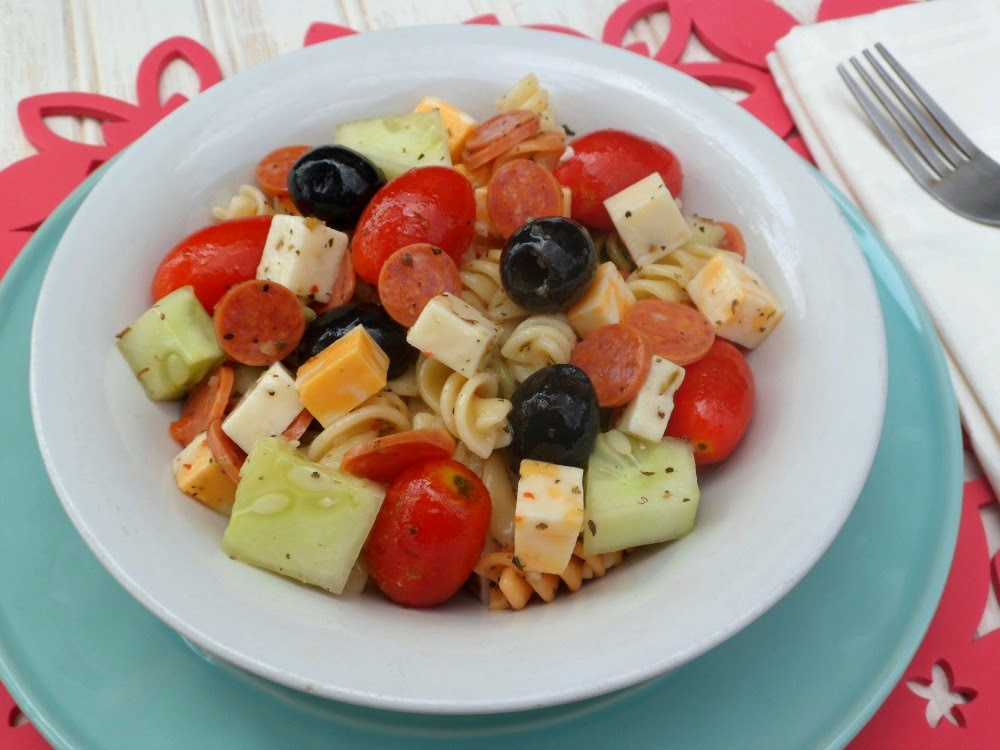 Zesty Italian Pasta Salad Recipe Outnumbered 3 To 1