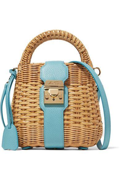 wiklinowa torebka niebieska