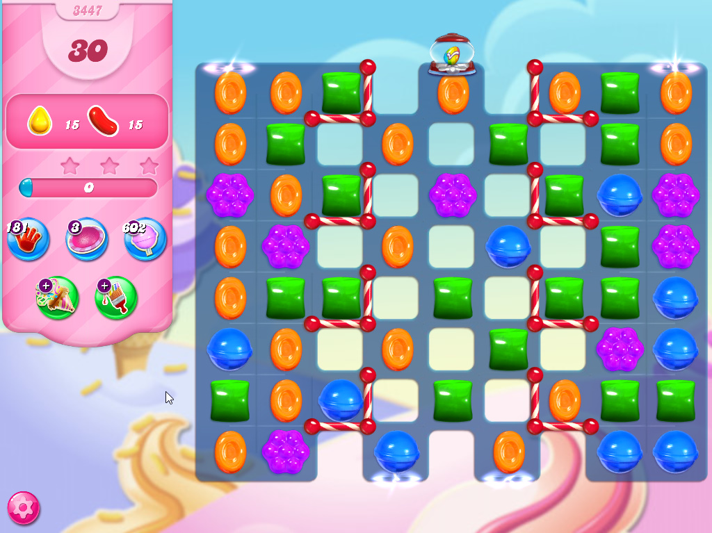 Candy Crush Saga level 3447