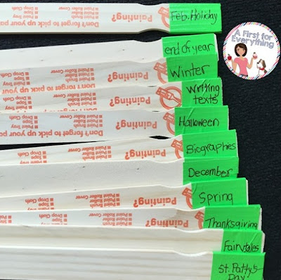 How to Organize your Classroom Library with Paint Sticks