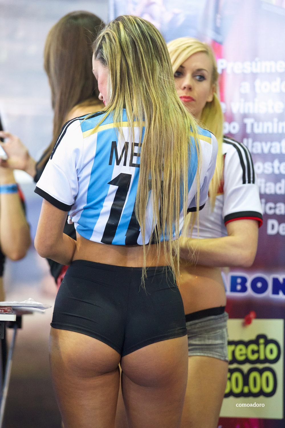 Argentina Blonde Perfect Ass In Spandex Shorts Promo Girl-4255