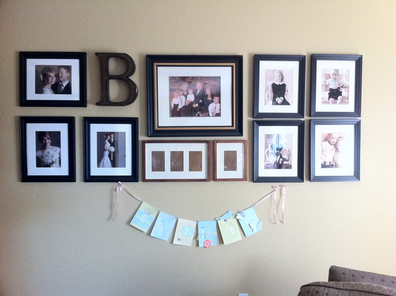 Get craftlicious wall collages first guest ideas - Wall collage ideas living room ...