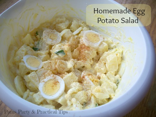 Homemade Potato Salad, Egg Potato Salad, Cooking with Kyle