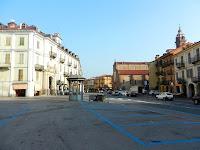 The Piazza Risorgimento in Saluzzo
