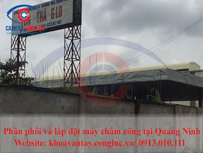 Phân phối và lắp đặt máy chấm công vân tay RONALD JACK X628 tại Hạ Long Quảng Ninh.