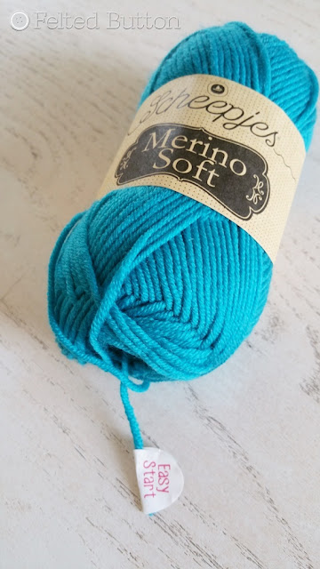 Scheepjes Merino Soft yarn with Easy Start tab--brilliance, I tell ya!