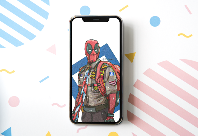 wallpaper vector pramuka deadpool